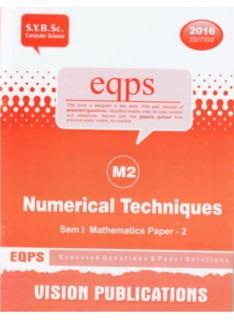 Numerical Techniques