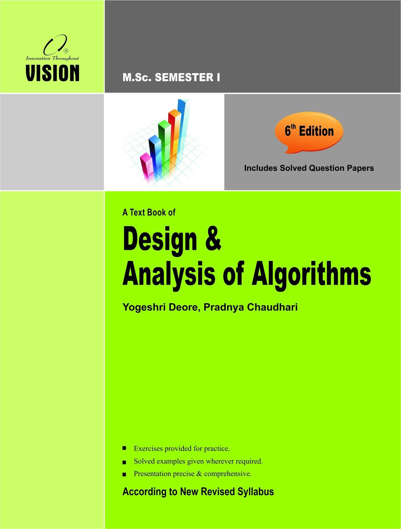 Design & Analysis of Algorithms - Vision Publications