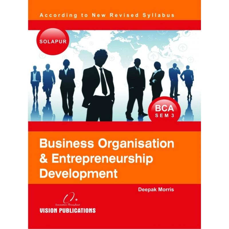 Business Organisation and Entrepreneurship Development